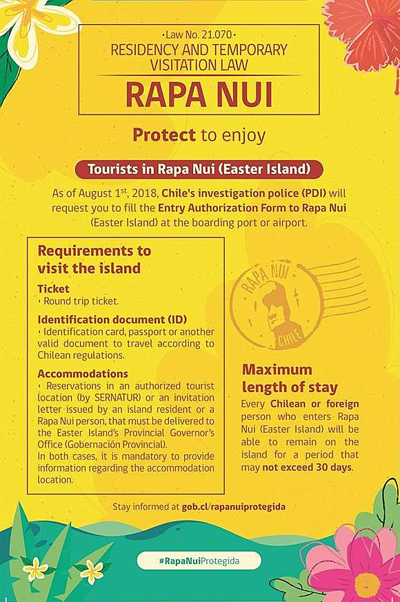 new law to protect rapa nui travel to easter island