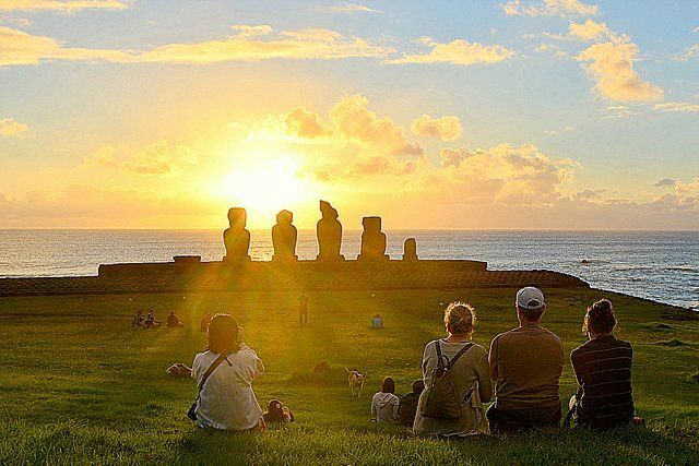 Sunset in Tahai Travel to Easter Island