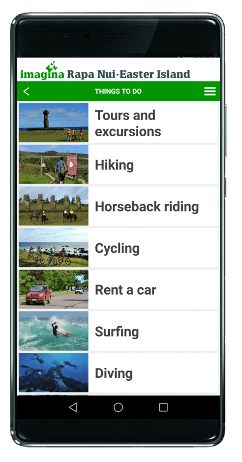 App Easter Island Things to do