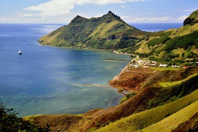 Overview of Rapa island also known as Rapa Iti