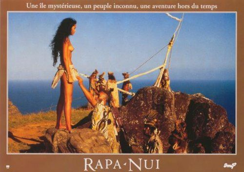 French poster of the movie Rapa Nui