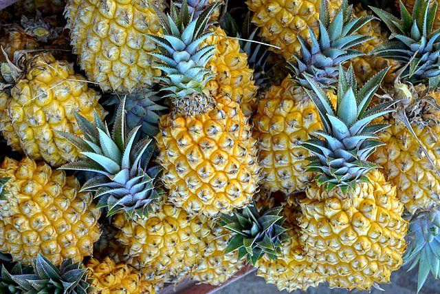 The Easter Island pineapple is small, sweet and aromatic