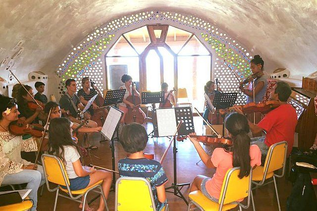 Concert of the students of the Toki Rapa Nui Music School Easter Island